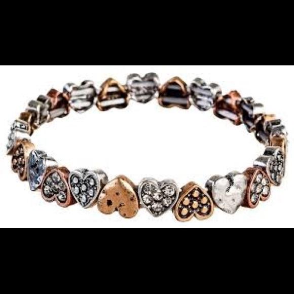 Jewelry - Multi Metal Mini Heart Bracelet